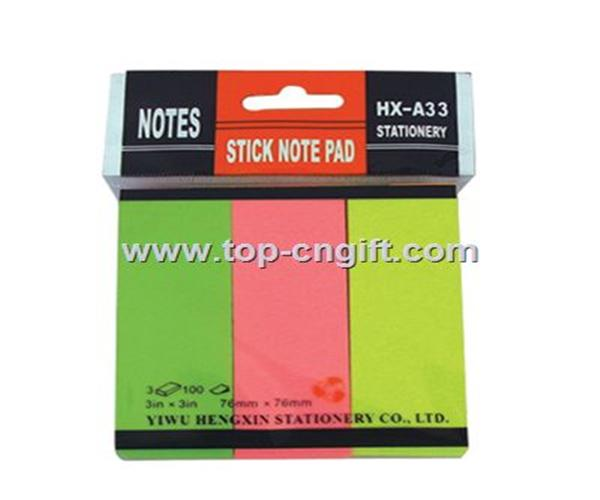 Sticky notes pack by opp bag