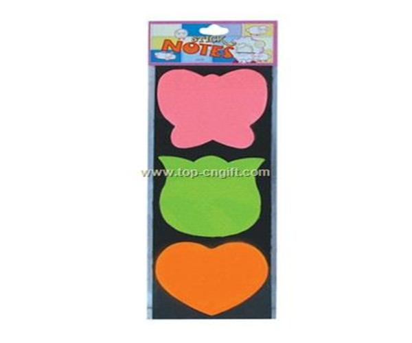 Sticky notes plastic bag with sticker