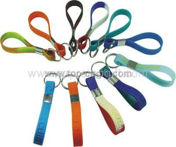 Silicone band key chain