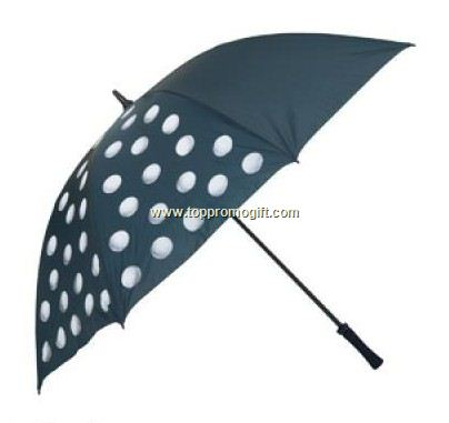 Golf Ball Print Umbrella