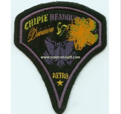 Die Shaped Embroidered Patch