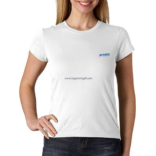 Ladies Short-sleeve Jersey T White