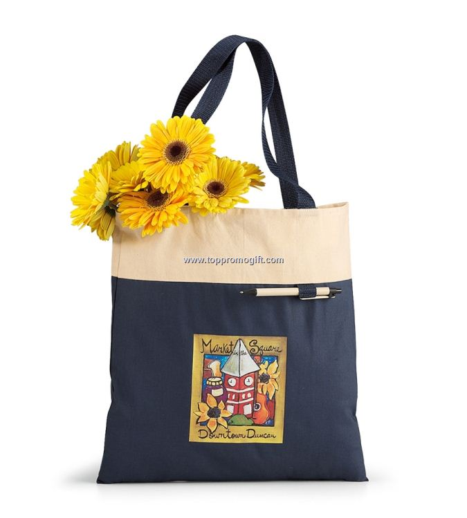 Banner Cotton Tote Bag - 14 1/4 x 15