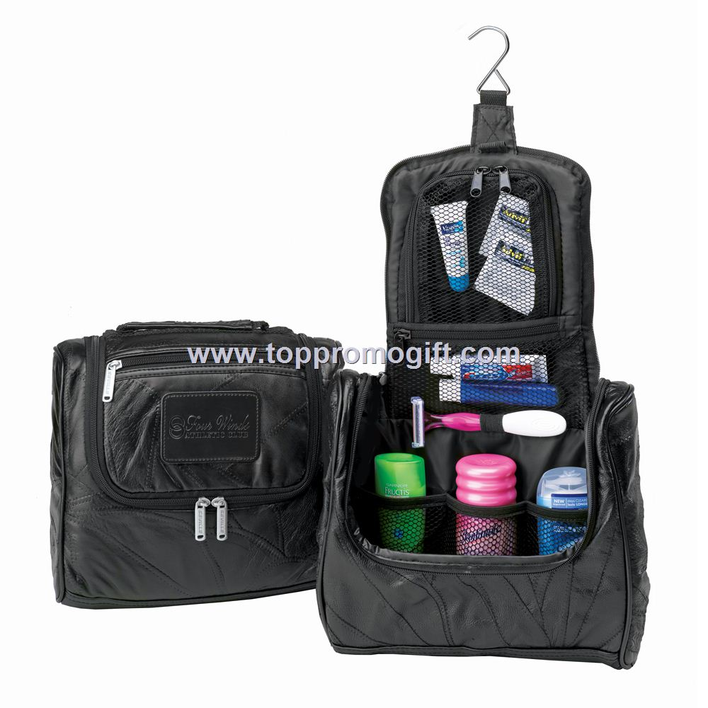 Leather Travel Mate Toiletry Kit