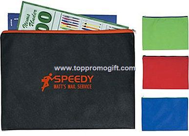 Non Woven Document Sleeve with Zipper