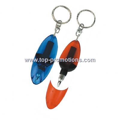 Mini tool with keychain