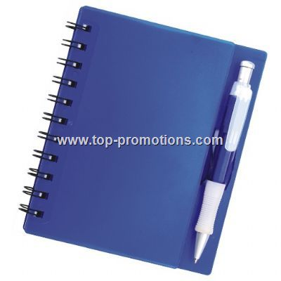 Note book with pen set