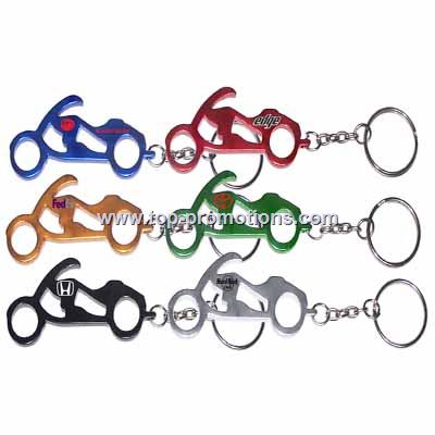 Motorcycle Shaped Bottle Opener Keychain