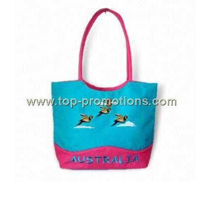 Promotional Tote Bag in Green and Orange