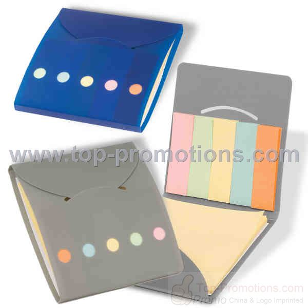 sticky notes and marker pads folding organizer