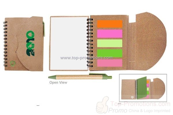 Eco Friendly Sticky Notes Pad with Recycled Paper