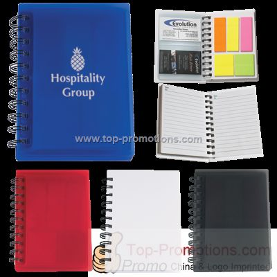 Spiral Notebook With Sticky Notes