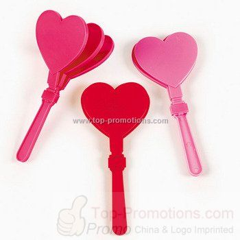 Heart Shaped Valentine Hand Clappers