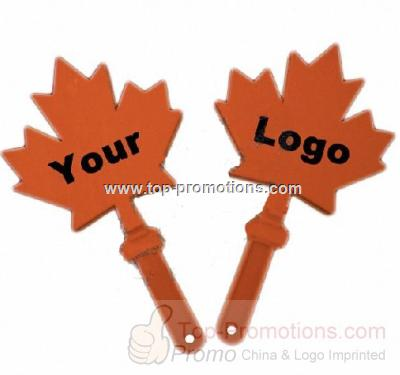 Maple Leaf Hand Clapper