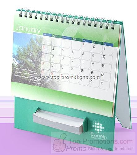 Desk Calendar with Memo Holder