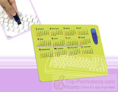 Mouse Pad with Keyboard Brush