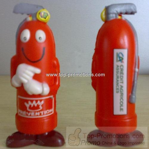 Cartoon Fire Extinguisher Stress Balls