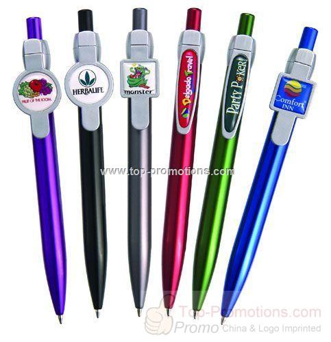 Plastic Ballpoint Pen with DOMED Logo