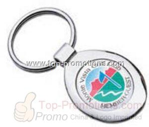 Color Domed Keyring