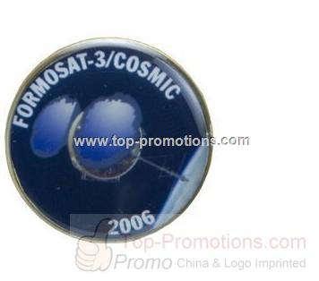 1 Round Domed Lapel Pin