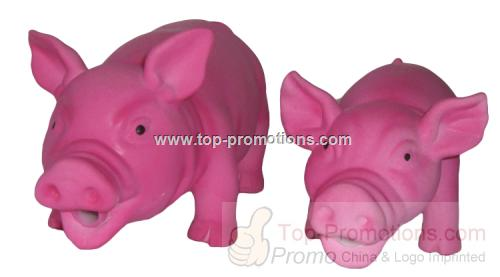 Latex Pig Dog Toy