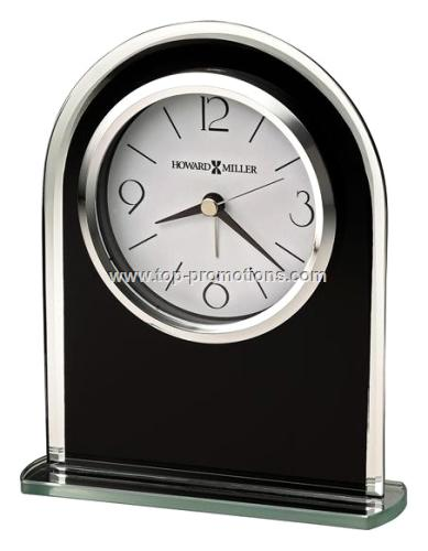 Howard Miller - Ebony Luster Tabletop Alarm Clock