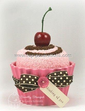Promotional Cup Cake Towels