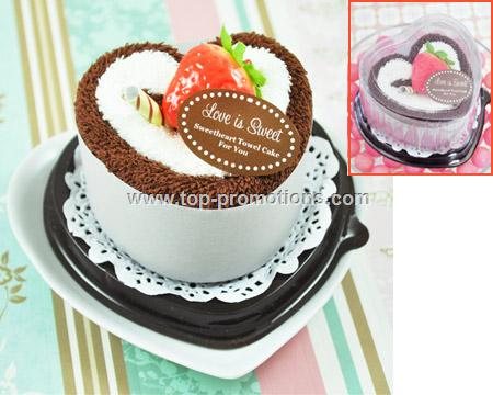 Love is Sweet Towel Cake Favor