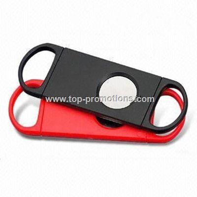 Promotional Plastic Cigar Cutter with Stainless St
