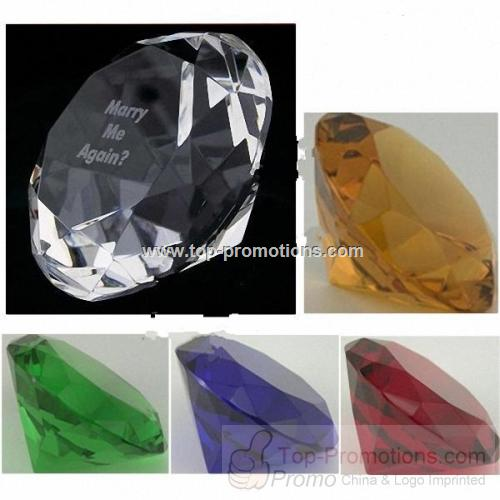 Colors Diamond Crystal Paperweight