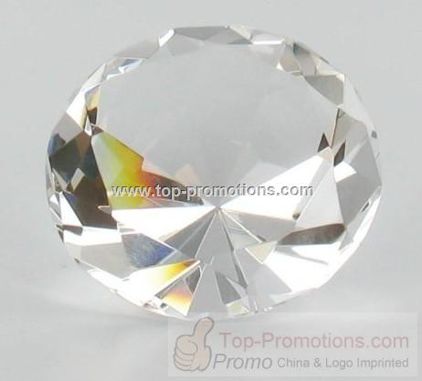 Clear Glass Diamond Ring Shaped Paperweight Paper