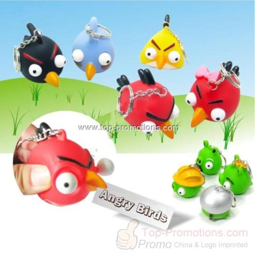 Angry Birds Poppin Peepers Keychain