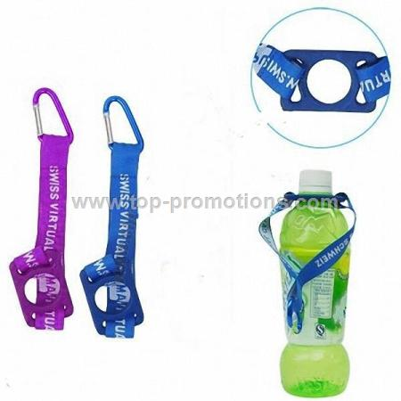 Aluminum Carabiner with Bottle Holder