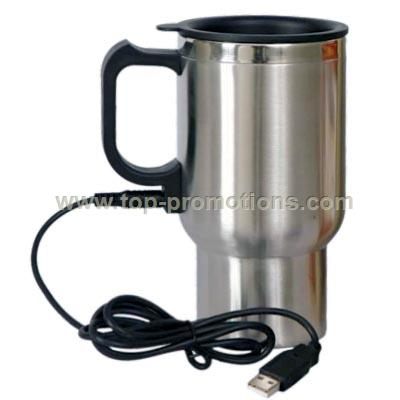 16oz Double Wall Stainless Steel USB Mug