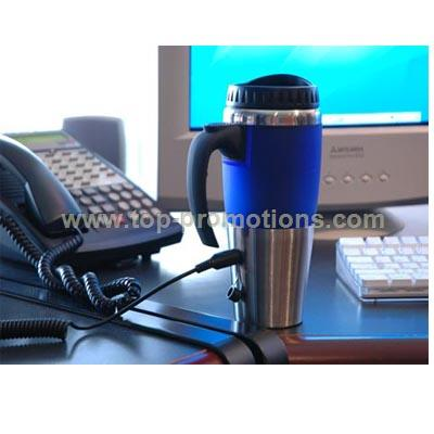 USB Heating Stainless Steel Auto Mug with Car Ligh