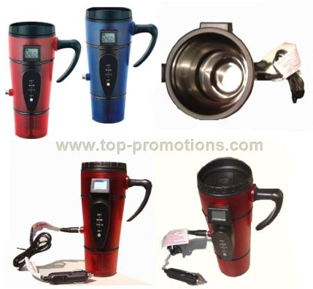Electric USB Heater Stainless Steel Auto Mug with