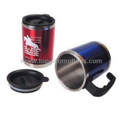 Colorful stainless steel desk mug