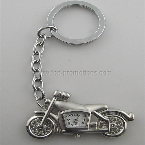 Motorcycle Keychain Clock