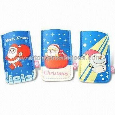 Novelty Pattern Mobile Phone Pouches Christmas Gif