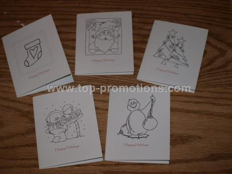 Color Your Own! Holiday Cards