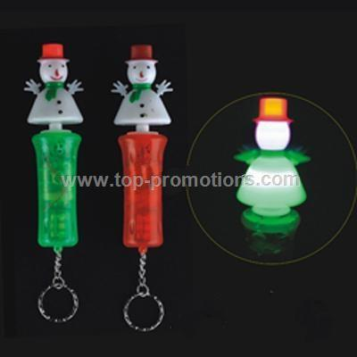 Flashing Snowman Keychain