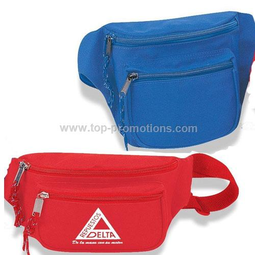 Nylon 3 pocket fanny pack