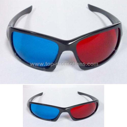 3D Glasses with Plastic Frame