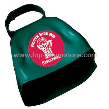 Imprinted Victory Cow Bell Green Each