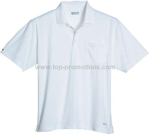 Men Pico Knit Polo Shirt with Pocket
