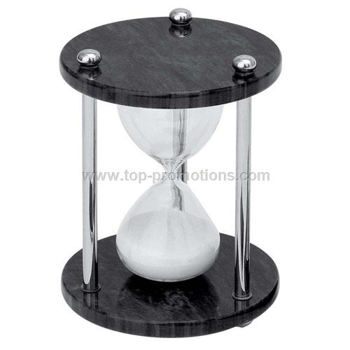 Marble silver sand timer