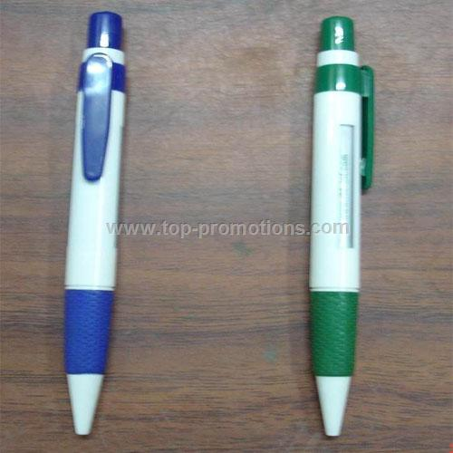 Message Pen with Rubber Grip