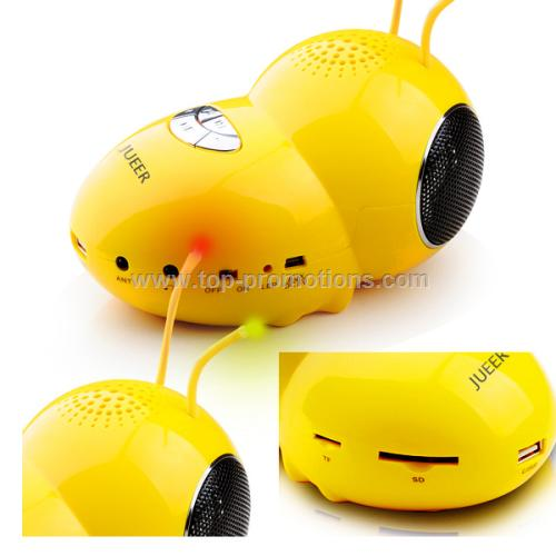 Bee-shapedsmeller light-flash USB portable speaker