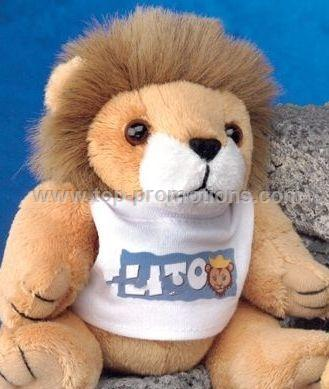 GB Brite Plush Beanie Stuffed Light Brown Lion (6