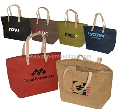 Hampton Jute Tote Bag